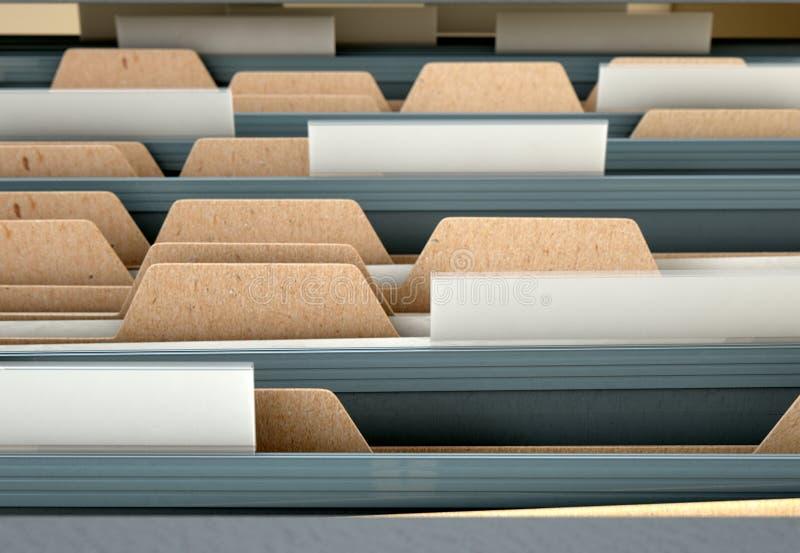 Générique ouvert de tiroir de meuble d'archivage illustration stock