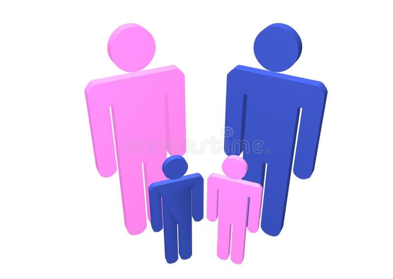 Género de la familia ilustración del vector