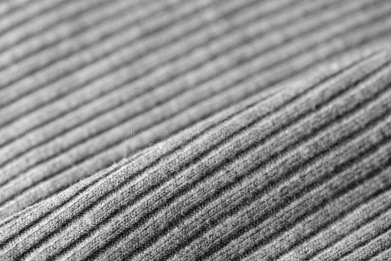 Géneros de punto grises como una textura y fondo fotografía de archivo