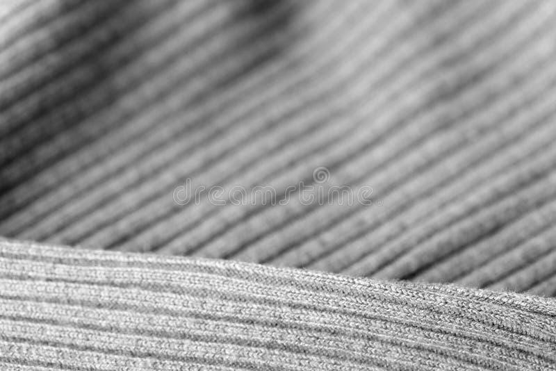 Géneros de punto grises como una textura y fondo imagen de archivo libre de regalías