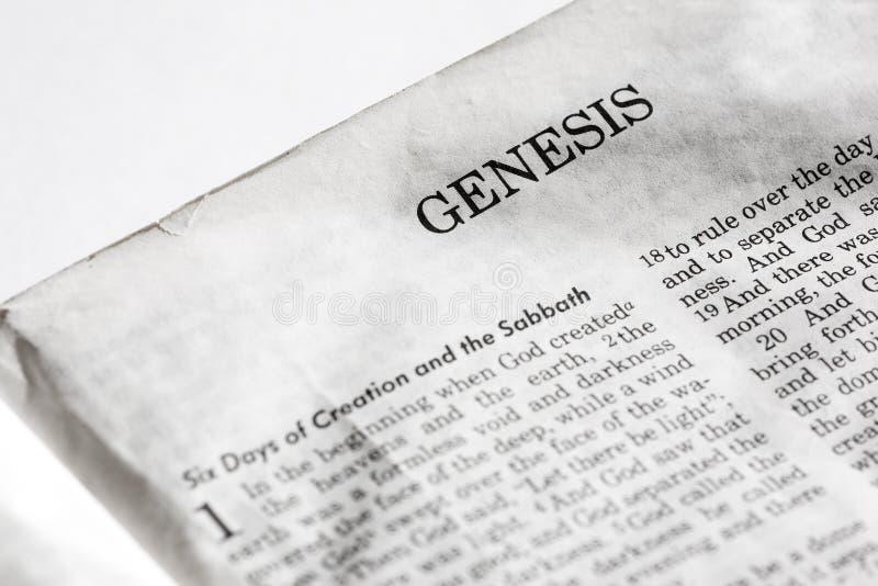 Génesis imágenes de archivo libres de regalías