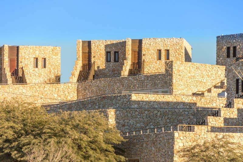 Génesis de Beresheet del hotel en Israel Negev Desert imagenes de archivo