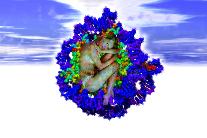 Génesis de la DNA imagenes de archivo