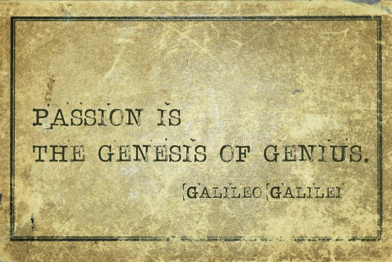 Génesis Galilei de la pasión foto de archivo libre de regalías