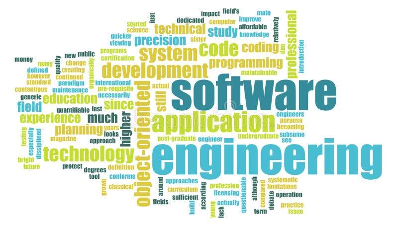 Génie logiciel  illustration libre de droits