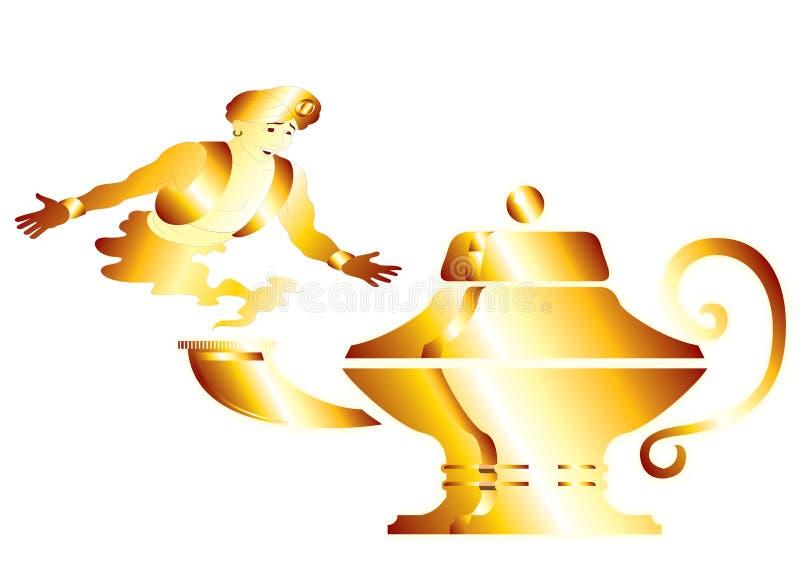 Génios dourados ilustração stock