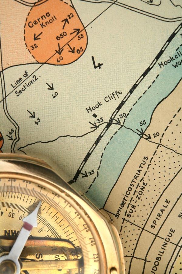 Géologie - cartographie de 2 photographie stock