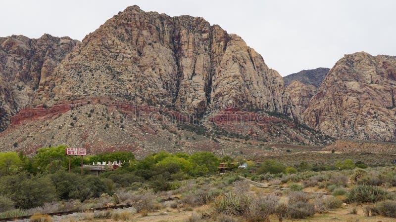 Géologie chez Bonnie Springs Ranch près de Las Vegas, Nevada photos libres de droits