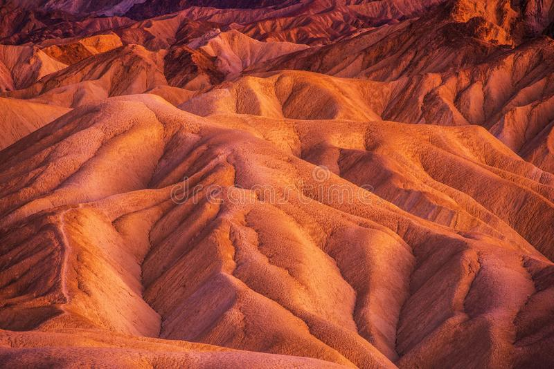Géologie de Death Valley photo libre de droits