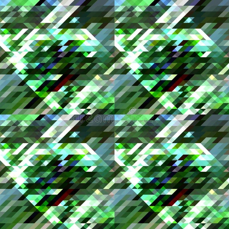 Géométrique abstrait Formes géométriques dans différentes nuances de vert et de bleu, blanches illustration libre de droits