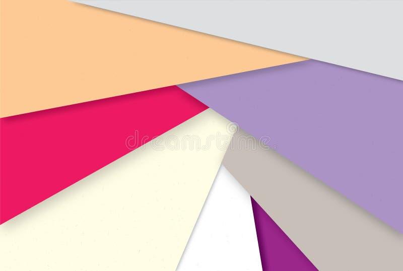 Géométrique abstrait Papier peint multicolore élégant illustration libre de droits