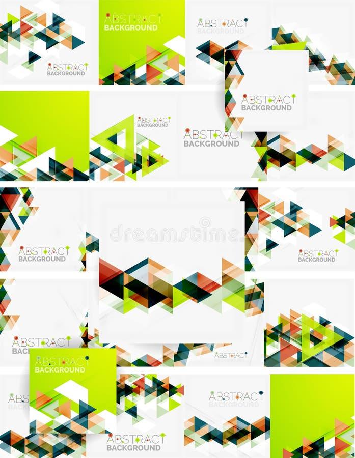 Géométrique abstrait Recouvrement moderne illustration libre de droits