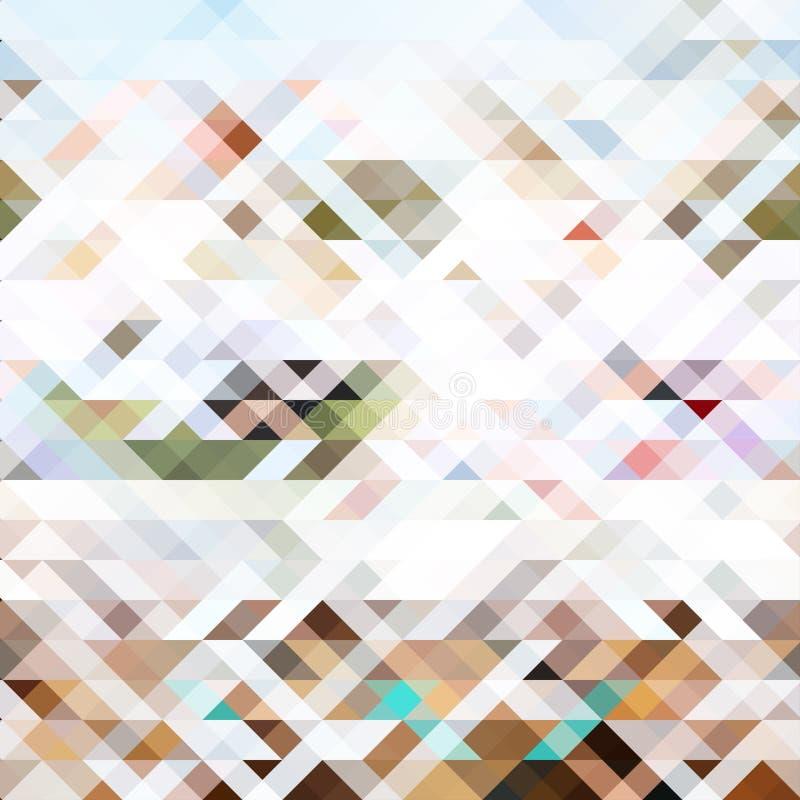 Géométrique abstrait Triangles et polygones de couleur de fond illustration libre de droits