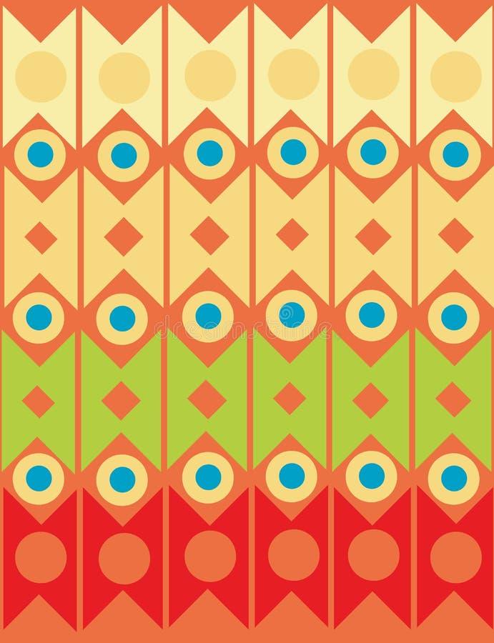 Géométrique ornemental abstrait illustration de vecteur