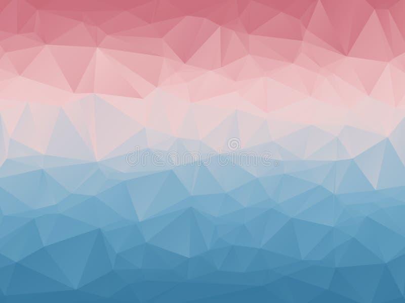 Géométrique polygonal d'abrégé sur couleur en pastel photographie stock