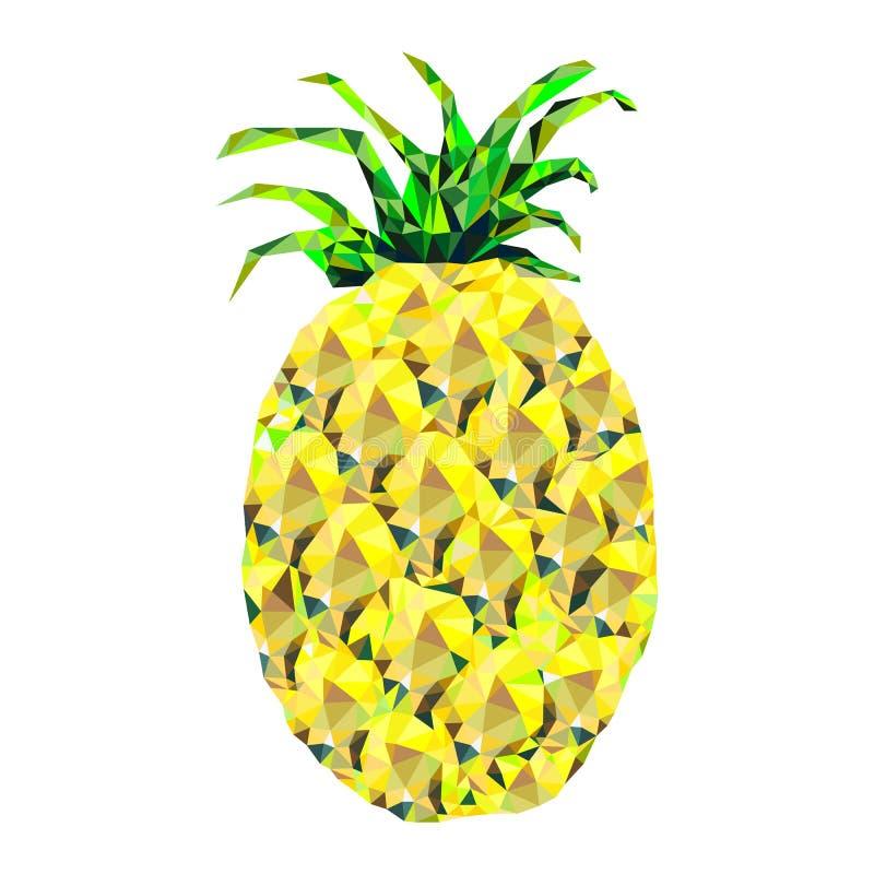Géométrique stylisé d'ananas, triangles illustration stock