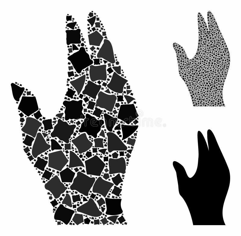Gérer l'icône de composition manuelle des éléments de tremulant illustration libre de droits