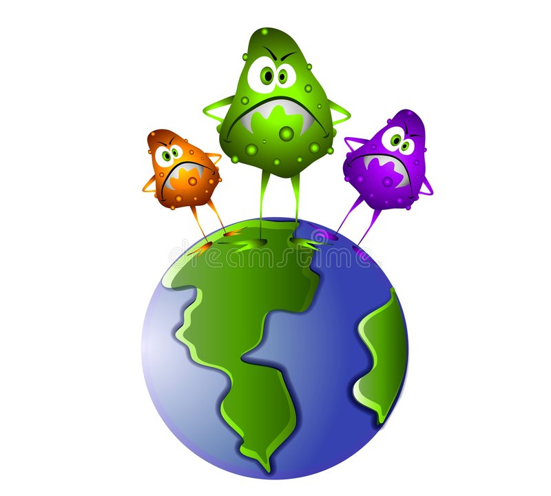 Gérmenes de Superbug en el mundo libre illustration
