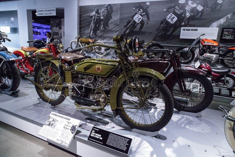 Gêmeo 1921 do esporte de Harley-Davidson Model W da azeitona imagens de stock royalty free