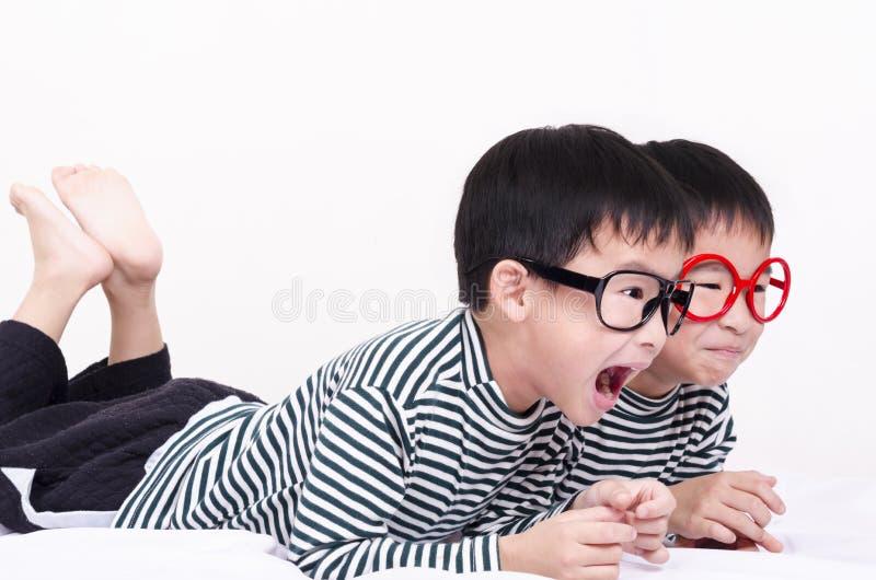 Gêmeo engraçado imagem de stock