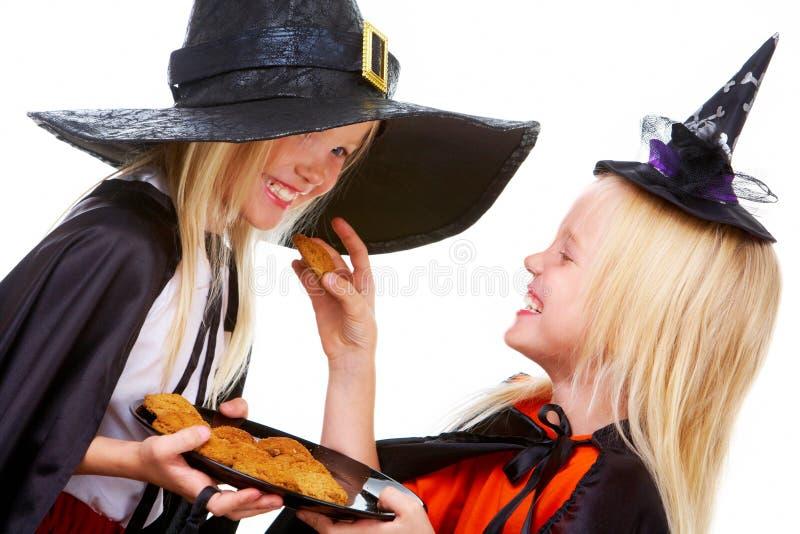 Gêmeos de Halloween imagens de stock