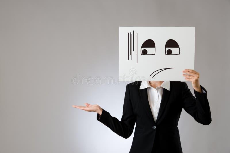 Gêné illustrez et en favorisant le geste photo libre de droits