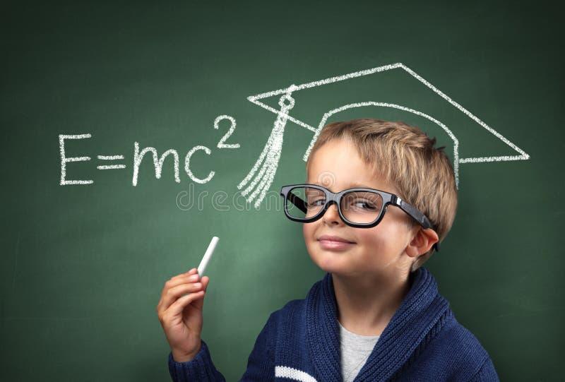 Gênio da criança na educação fotografia de stock royalty free