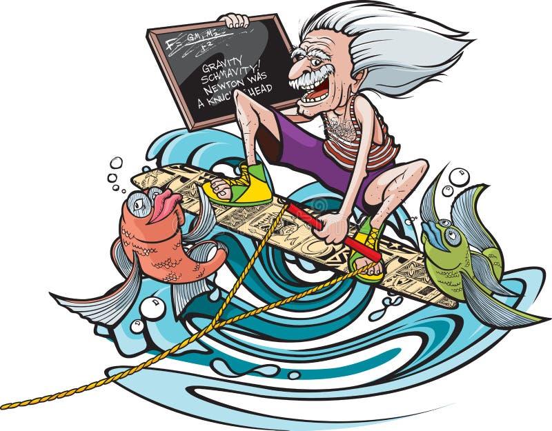 Gênio de Wakeboard ilustração royalty free
