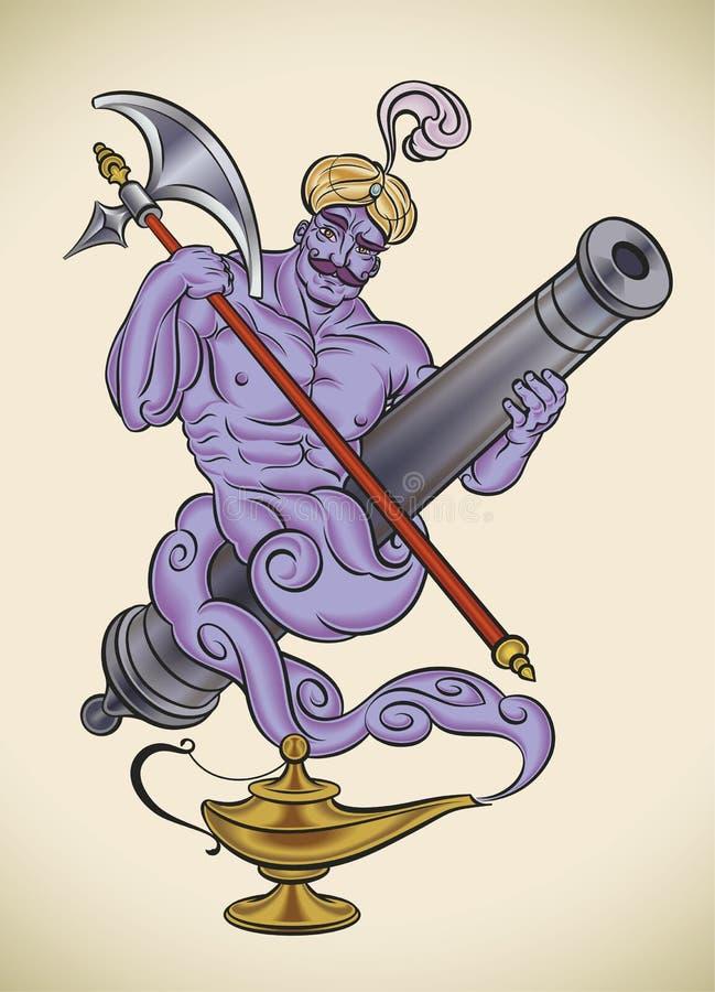 Gênios do canhão ilustração royalty free
