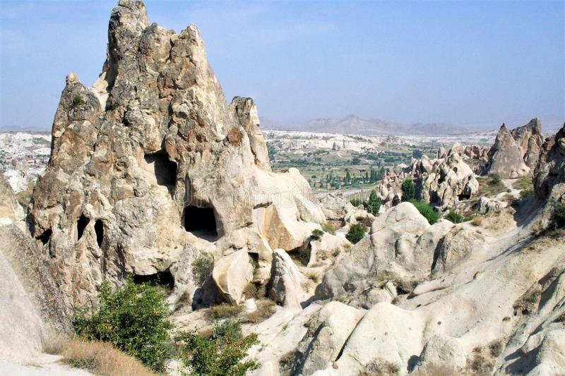 G�reme National Park. Spectacular landscape, entirely sculpted by erosion, of G�reme valley and its surroundings stock photos