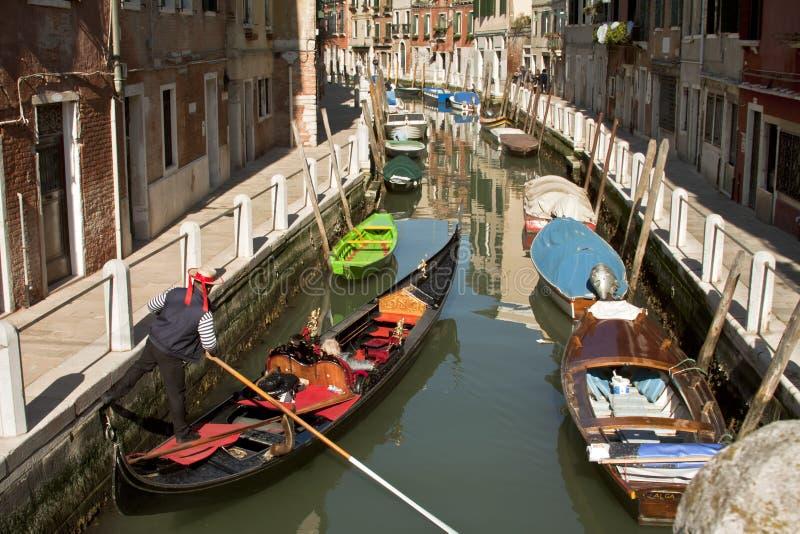 Góndola veneciana fotografía de archivo