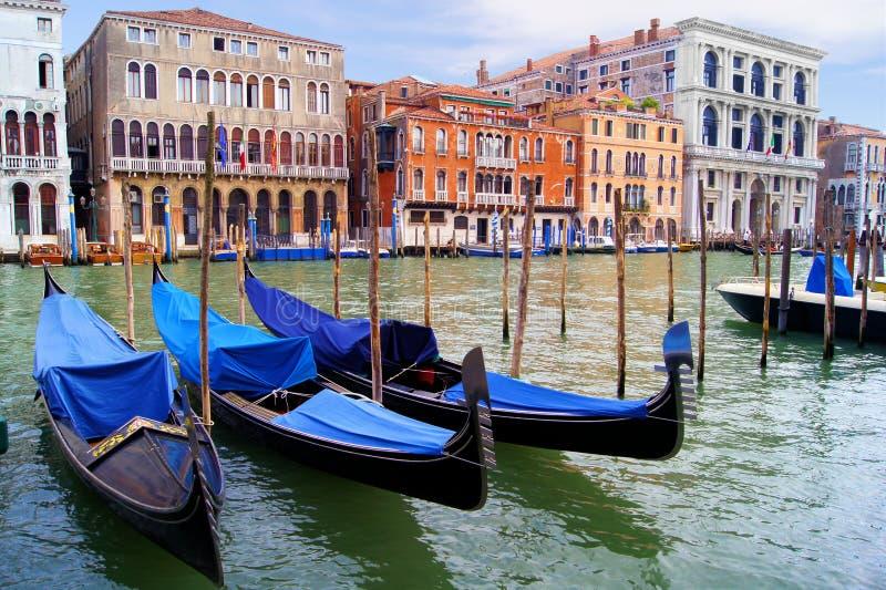 Góndolas de Venecia imagen de archivo libre de regalías
