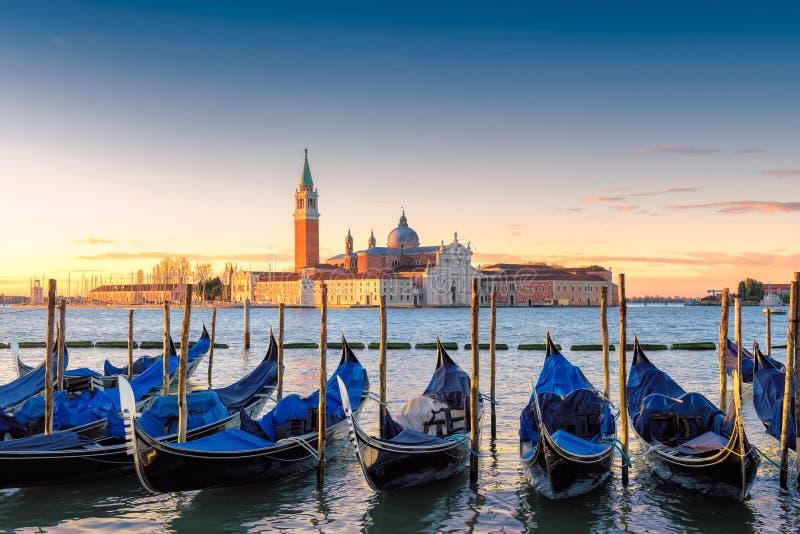 Góndolas de Venecia en San Marco imágenes de archivo libres de regalías