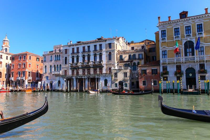 Góndolas tradicionales en Venecia fotografía de archivo libre de regalías