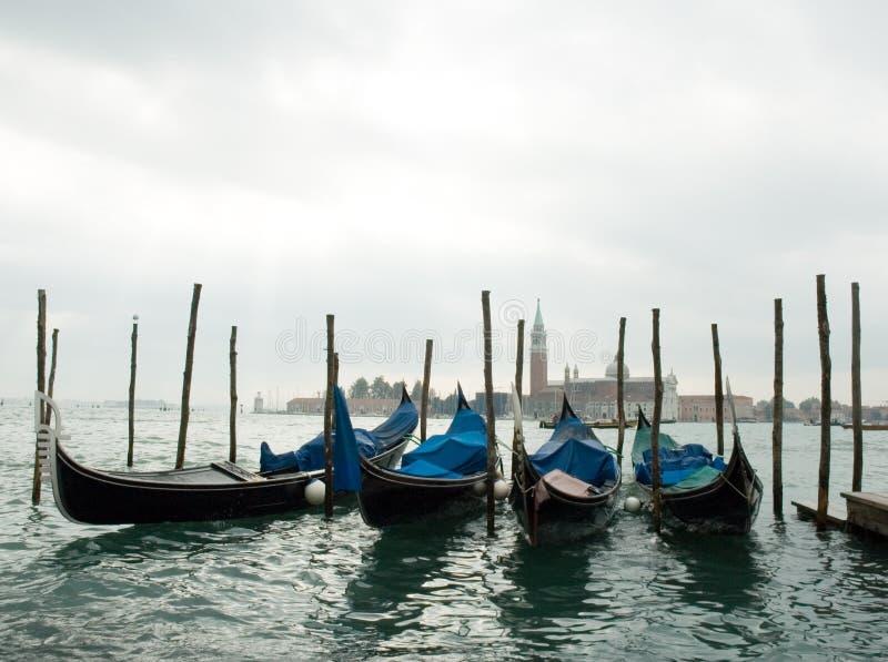 Góndolas Venecia fotografía de archivo libre de regalías