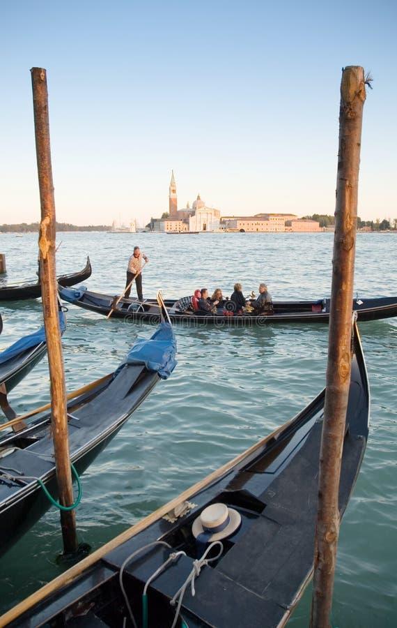 Góndolas Venecia imagen de archivo libre de regalías
