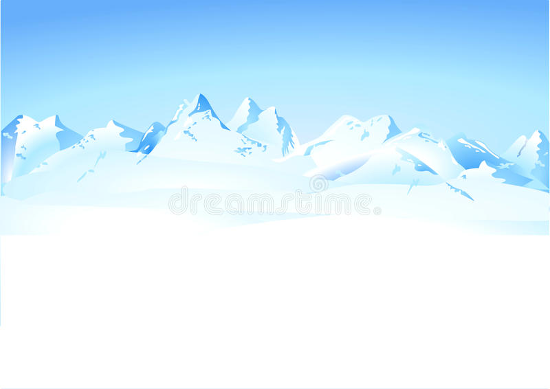 gór panoramy zima royalty ilustracja