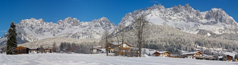 gór scenerii zima zdjęcie royalty free