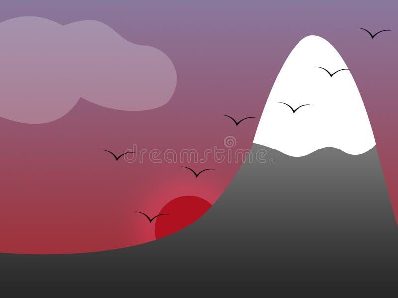 Download Góra ilustracji. Ilustracja złożonej z zmierzch, góra, jesienny - 132983