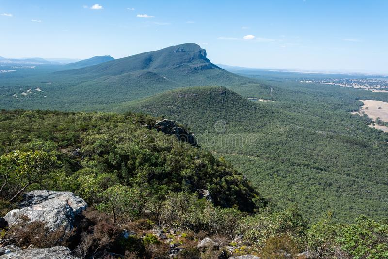 Góra Abrupta w regionie Grampians w Wiktorii, Australia obrazy royalty free