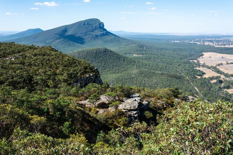 Góra Abrupta w regionie Grampians w Wiktorii, Australia fotografia stock
