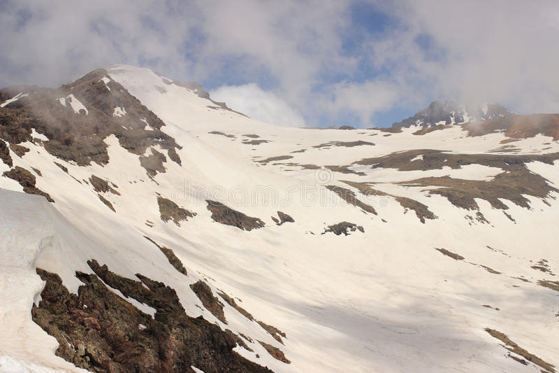 Góra Aragats (południe i westernu szczyty) zdjęcie royalty free
