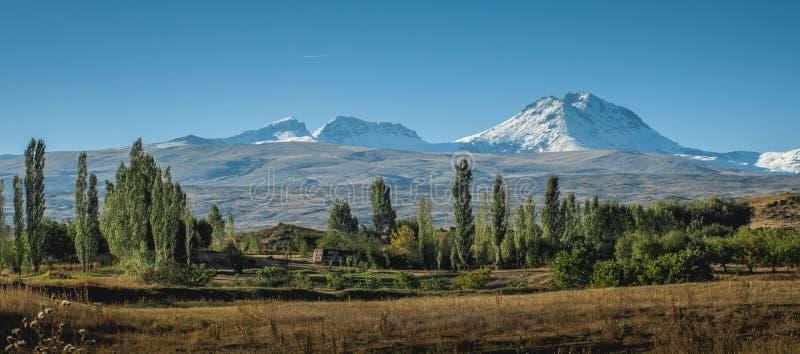 Góra Aragats w Armenia od południe zdjęcie royalty free