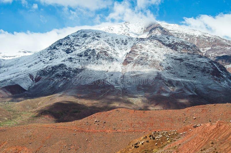 Góra atlant w Maroko fotografia stock