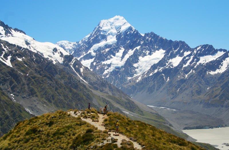 Góra Cook w Nowa Zelandia fotografia royalty free
