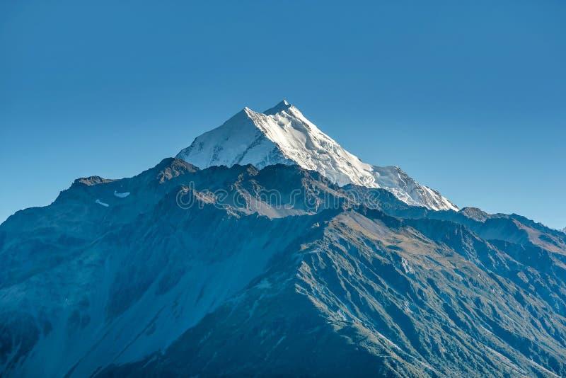Góra Cook zakrywający z śniegiem, Nowa Zelandia zdjęcie royalty free