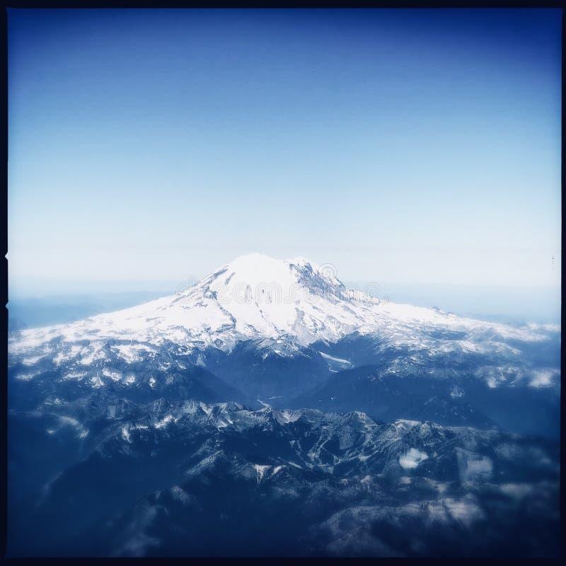góra dżdżysta zdjęcie stock