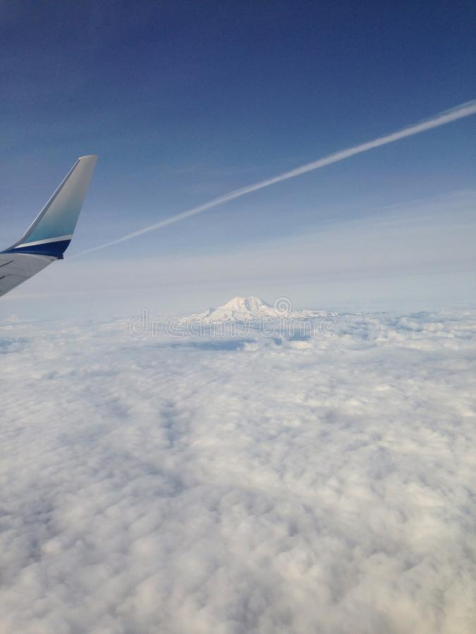 góra dżdżysta fotografia stock