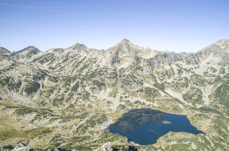Góra Djangala i Popovo jezioro w Pirin parku narodowym, Bułgaria fotografia royalty free