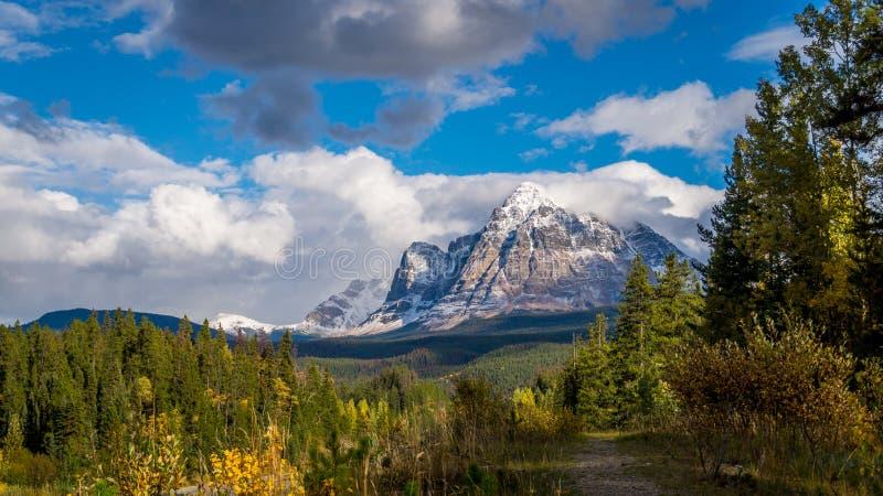 Góra Fitzwilliam w Kanadyjskich Skalistych górach obrazy stock